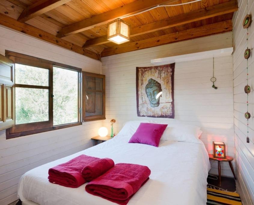 Dormitorio cabaña Alcazaba